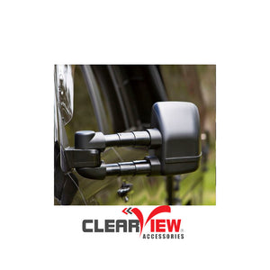 Clearview CVNG-MP-NT-EB Towing Mirrors [Next Gen; Pair; Electric; Black] - Mitsubishi Pajero