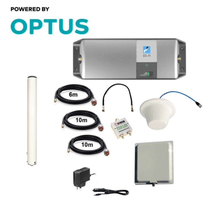 Cel-Fi GO RPR-CF-00239 Optus Omni Building Indoor & Outdoor Pack (Ceiling Dome)