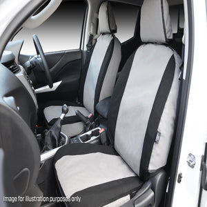 MSA FRT504 Mazda BT50 Front Twin Buckets (AIRBAG SEATS) + Console Cover + Integrated Lumbar Support