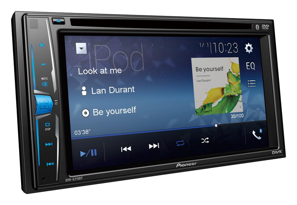 Pioneer AVH-A215BT Multimedia AV Receiver with Bluetooth, iPod/iPhone, USB & Aux-In