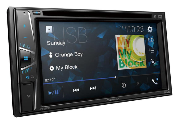 Pioneer AVH-G225BT In-Dash Double-DIN DVD Multimedia AV Receiver