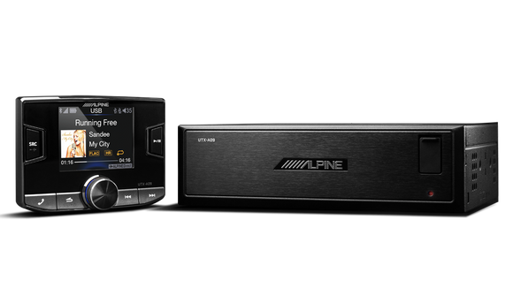 Alpine UTX-A09 Hi-Res Audio Digital Media AM/FM Receiver with Bluetooth & Dual USB