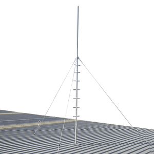 Blackhawk MAS-BH-00008 5-metre Climbable Roof Mast - Stainless Guyed