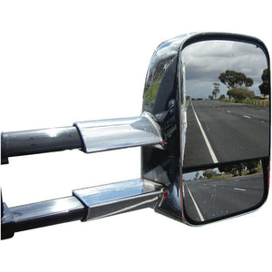 Clearview CV-TP-120S-EC Towing Mirrors/Electric/Chrome Toyota Prado 120 Series