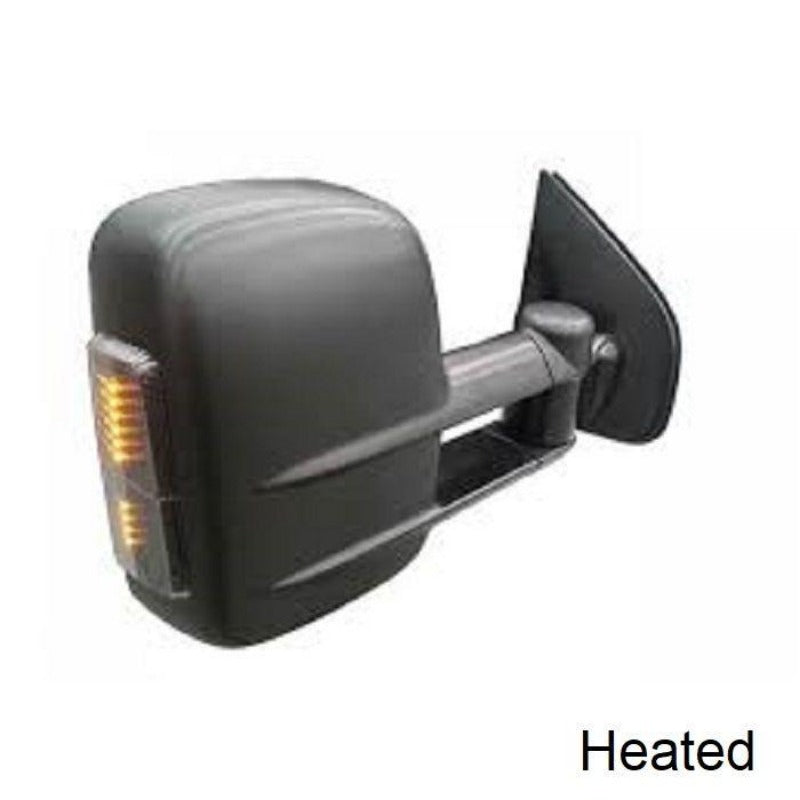 Clearview CV-HI-DC2012-HIEB Holden Trailblazer Towing Mirrors - Heated; Indicators; Electric - Black