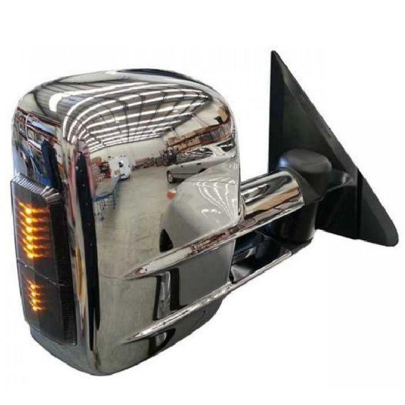Clearview CV-NP-GU-IEC Towing Mirrors Chrome with Indicators - Electric GU Patrol 99+