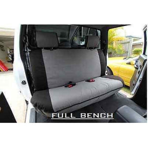 MSA HL62 Toyota Hilux 8th Gen Workmate Dual Cab Rear Full Bench Seat Cover No Armrest