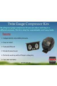 Polyair PA22005 Compressor Kit Twin Gauge Comp Kit Red & Ult Ser req Soft Adap