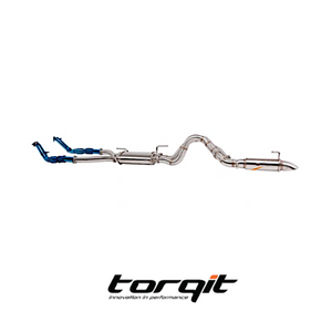 "Torqit HS8132SS TW 3.5"" Turbo Back Exhaust Twin (L/R Exit) to suit Toyota 79 Series"