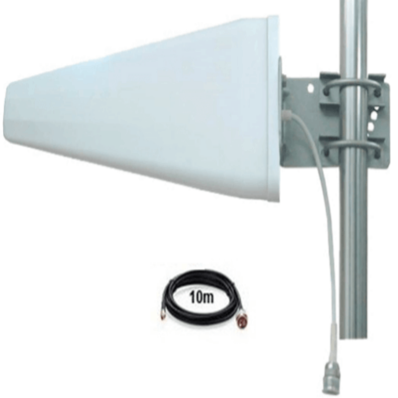 Blackhawk Wideband LPDA Directional Antenna (698-2700 MHz 10/11dBi + 10m LMR240 cable)