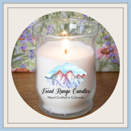 Glass hurricane candle 10 oz  Measures 3.5
