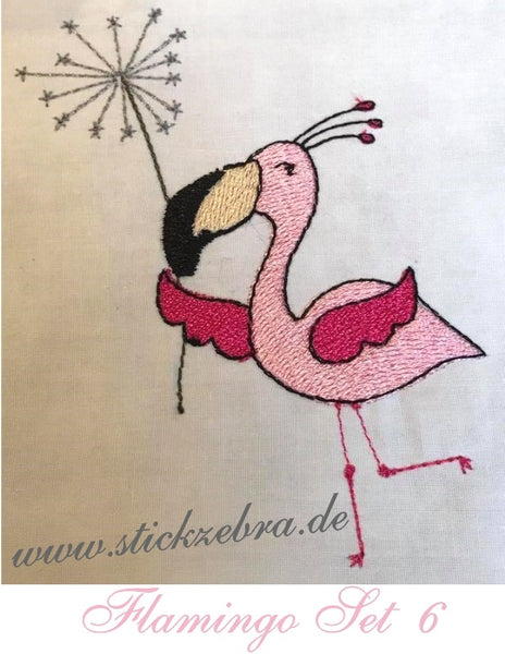 "Flamingo Set ""Rosa Störche"" - StickZebra"