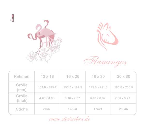 "Flamingo Set ""Line Art"" - StickZebra"