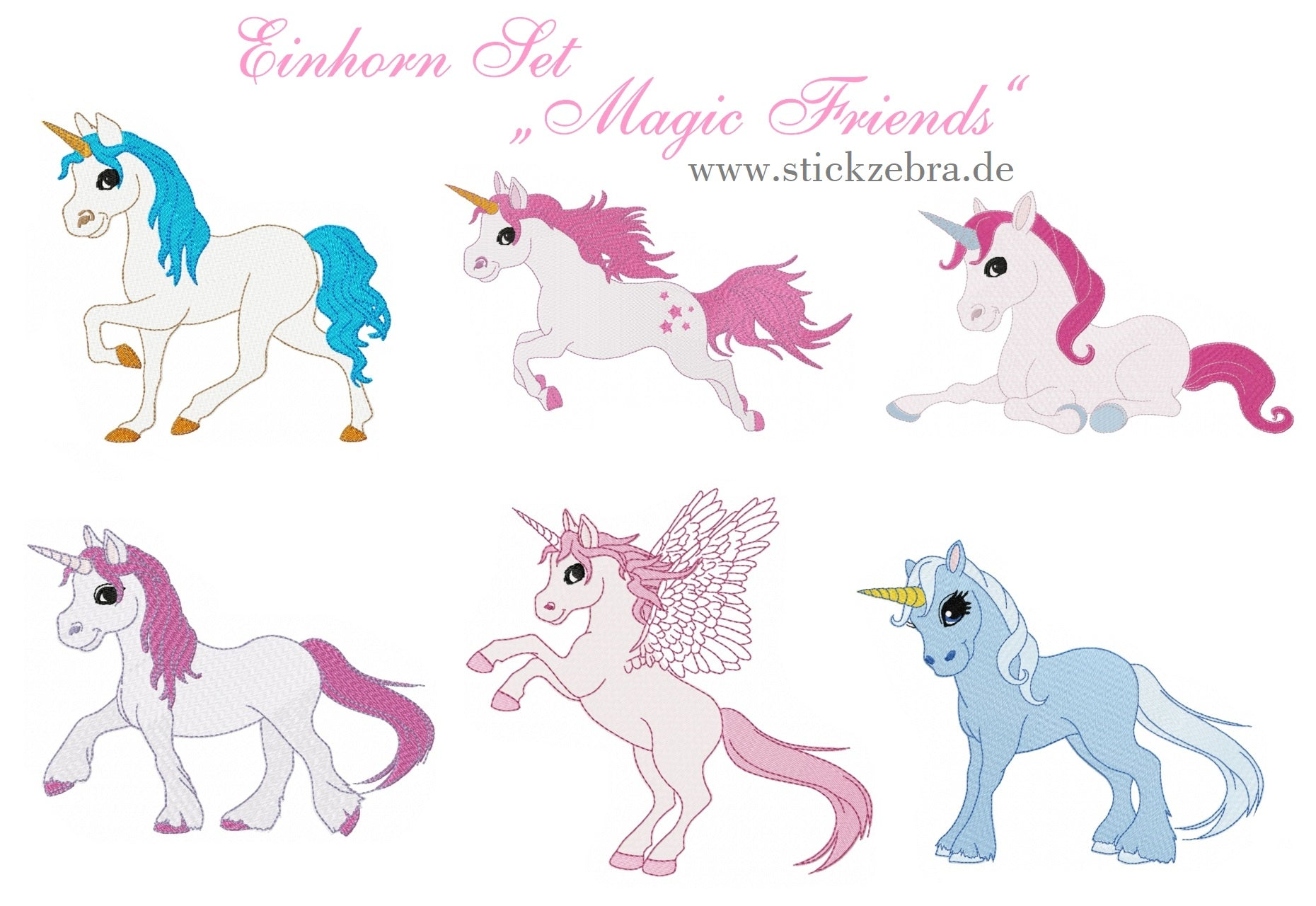 "Einhorn Set ""Magic Friends"" - StickZebra"