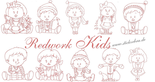 Redwork Kids - StickZebra