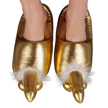 Load image into Gallery viewer, Golden Penis Slippers - So Seductive