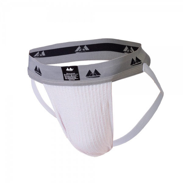 Bike Jockstrap White with 2 Inch Band - So Seductive