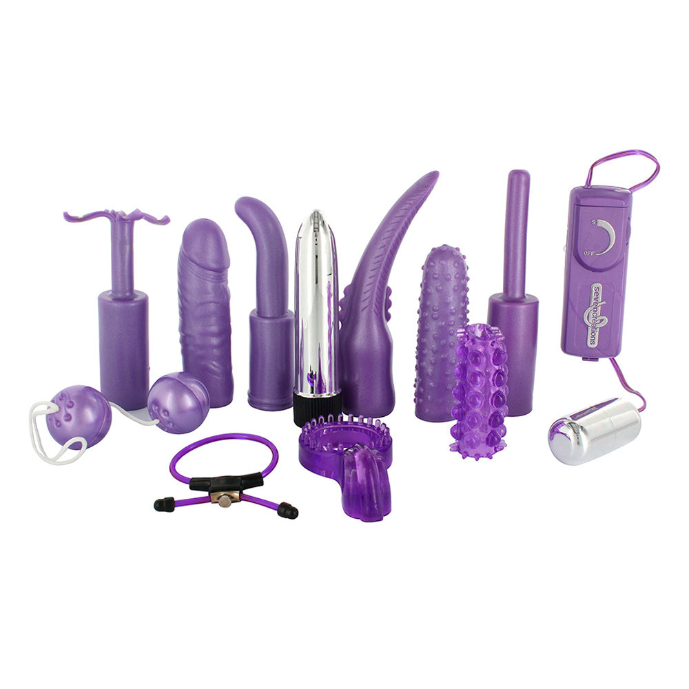 Dirty Dozen Sex Toy Kit Purple - So Seductive