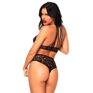 Leg Avenue Lace Top And High Waist String - So Seductive