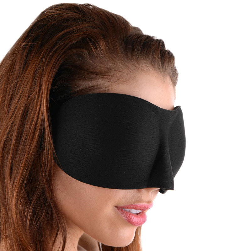 Frisky Deluxe Black Out Blindfold - So Seductive