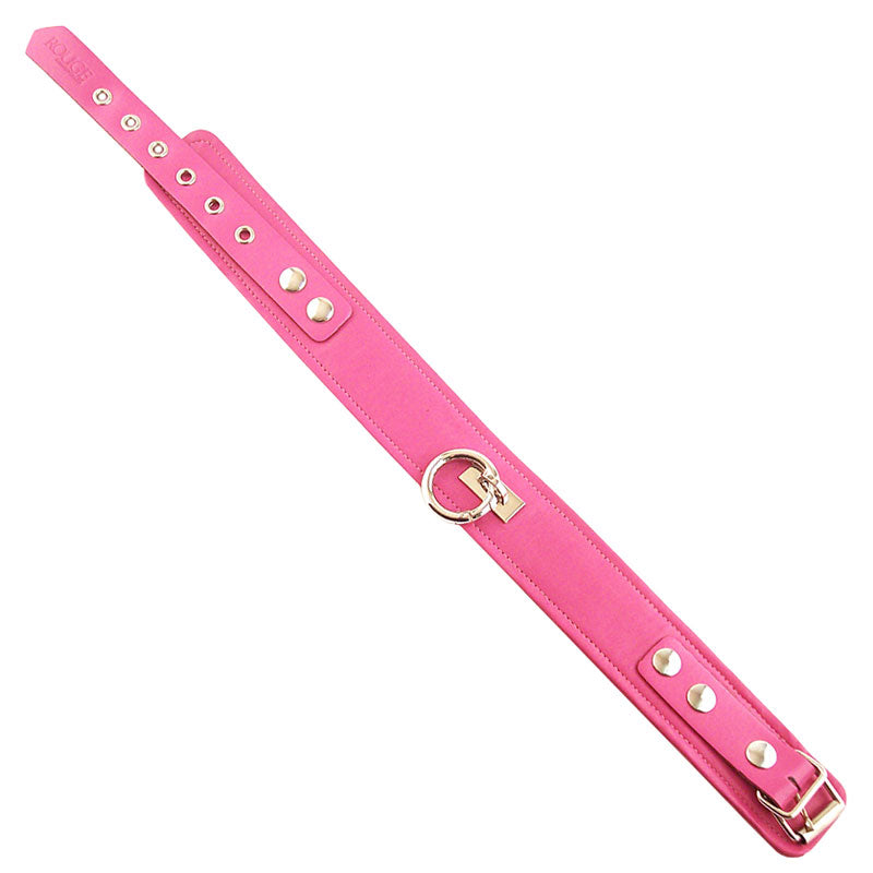 Rouge Garments Plain Pink Leather Collar - So Seductive