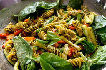 Pesto Pasta Primavera w/ Lemon and Black Pepper Essential Oils