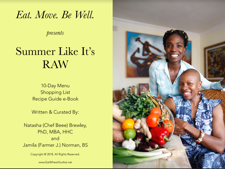 Summer Like It's RAW - Recipe and Menu Guide Downloadable eBook