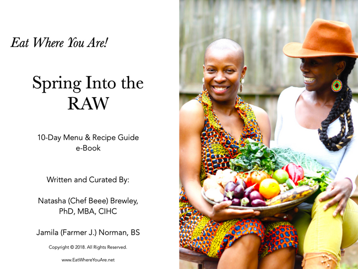 Spring Into the RAW - Recipe and Menu Guide Downloadable eBook