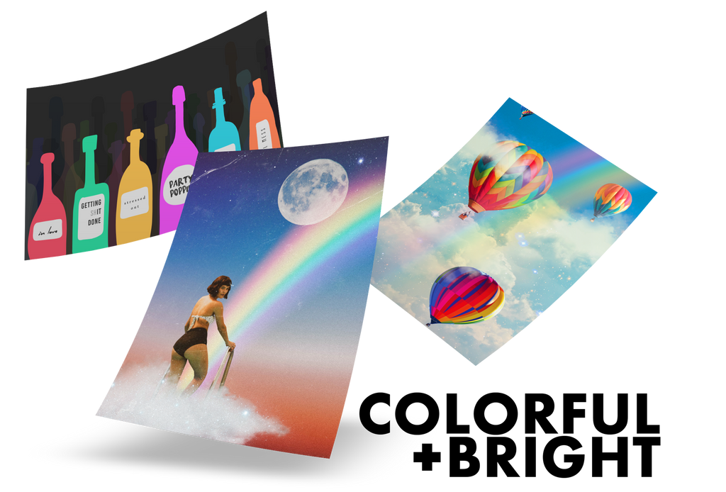 Colorful, bright, rainbow, multi-colored posters