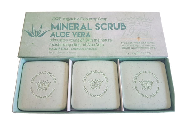 Pure Aloe Vera Mineral Scrub Boxed 3-Piece Set.