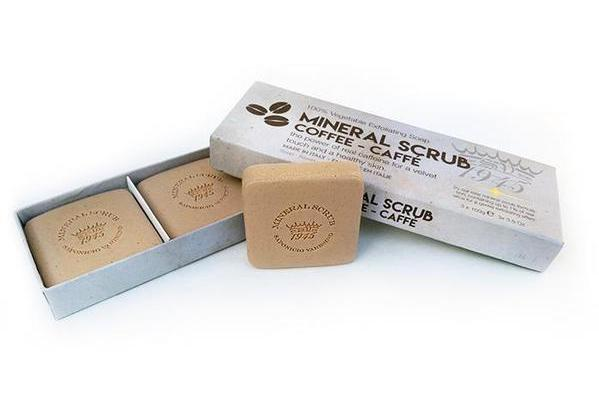 Coffee Mineral Scrub Boxed 3-Piece Set.