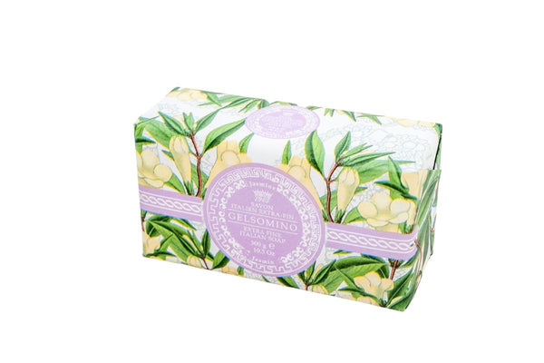 Jasmine Hand Wrapped Bar Soap.