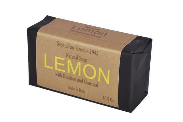 Lemon, Bamboo & Charcoal Bar Soap.