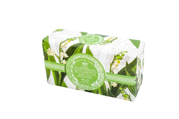 Lily of the Valley Hand Wrapped Bar Soap.
