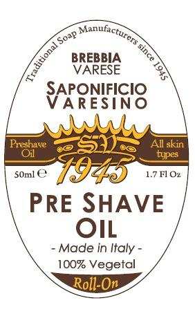 SV 1945 Pre-Shave Oil Label Badge