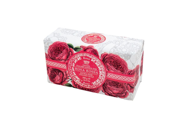 Red Rose Hand Wrapped Bar Soap.