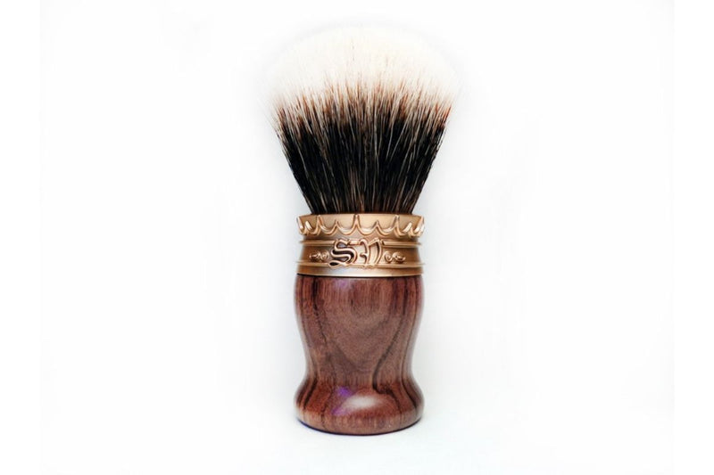 Real Rosewood Shave Brush with Manchurian White Badger