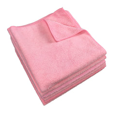 Bulk Case of 180 Microfiber Janitorial Cleaning Cloths - 16 x 16 - Color Options