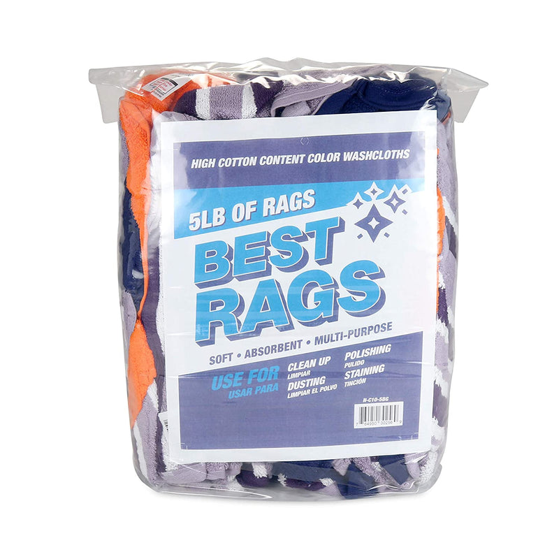 Colored Terry Towel Rags - Packaging Options - Bulk Rags for Multipurpose Cleaning Solutions