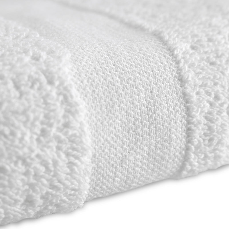 Admiral White Hospitality Hand Towels - Case of 10 Dozen (120 Hand Towels) - Size & Border Options