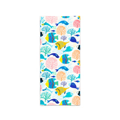 Printed Velour Beach Towel - 30 x 60 - Fish Design