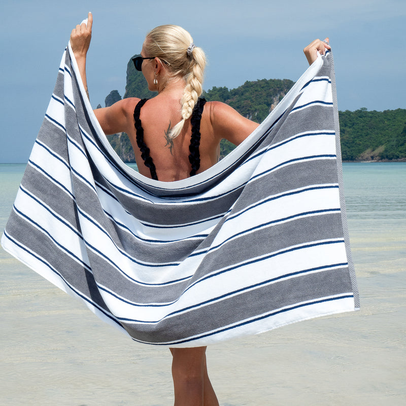 Aston & Arden Oversized Extra Thick Luxury Beach Towel (35x70 in., 600 GSM) Color Options