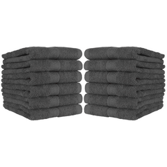 12 Pack of True Color Ring-Spun Cotton Hand Towels - 16 x 27 - Color Options