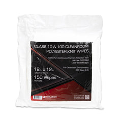 Arkwright Oversized Cleanroom Wipers (12x12, 150 Pack) Polyester Knit Wipes for Lab, Electronics, Pharmaceutics, Printing and Semiconductor Industries