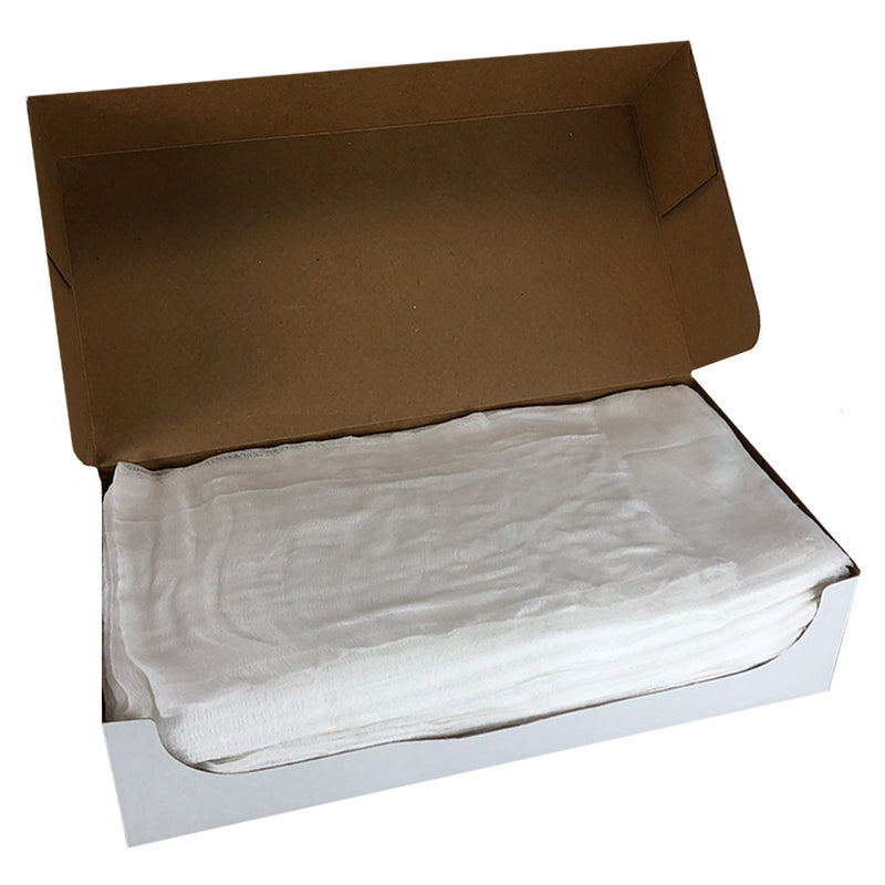 Bulk CASE of 10 Cheesecloth Boxes, Grade options, 100% Natural