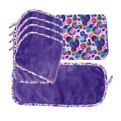 Makeup Removal Decorative Cloths & Travel Bag: 5-Pack, Design Options