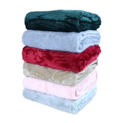 12 Pack of Coral Fleece Throw Blankets: 50 x 60, Soft, Assorted Colors