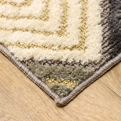 Artistry Area Rug - 20 x 34 - Diamond Design- Microfiber Material w/ Skid-Resistant Backing