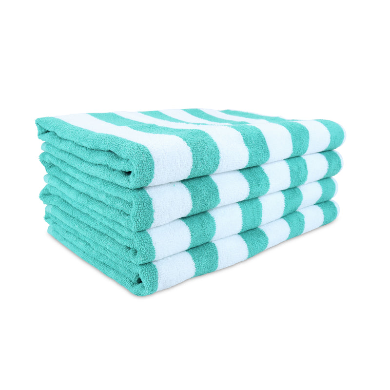 4 Pack of Cali-Cabana Towels: 100% Cotton, 30 x 60, Striped Color Options