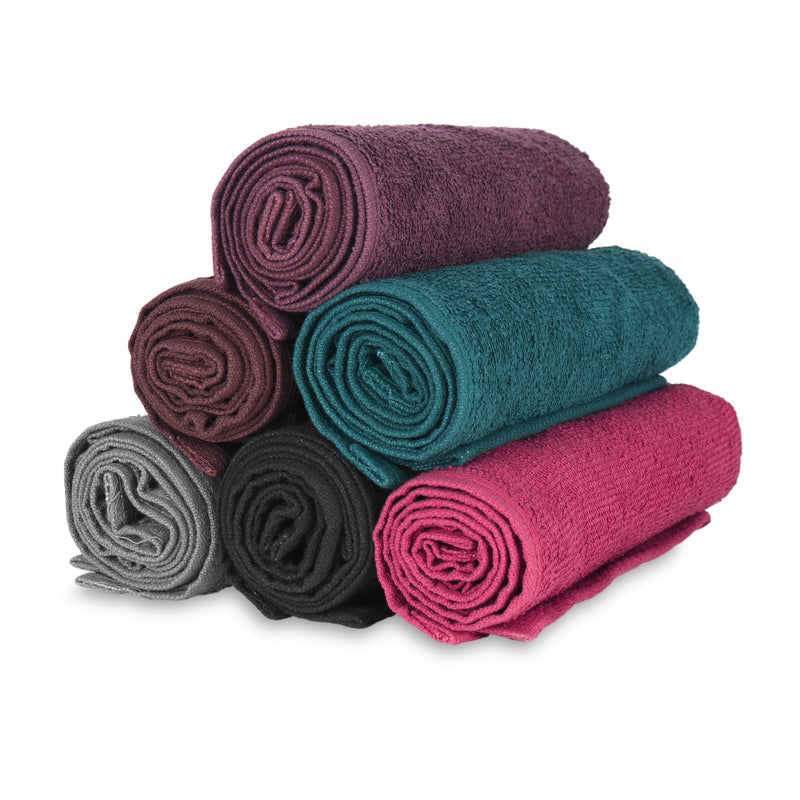 12 Pack of Bleach Safe Salon Towels: 16 x 28, 100% Cotton, Color Options